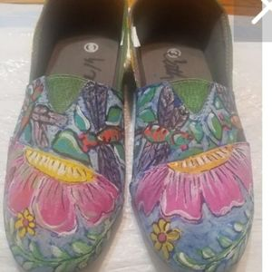 Original hand painted shoes size 6